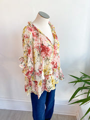 Fancy Floral Tie Top