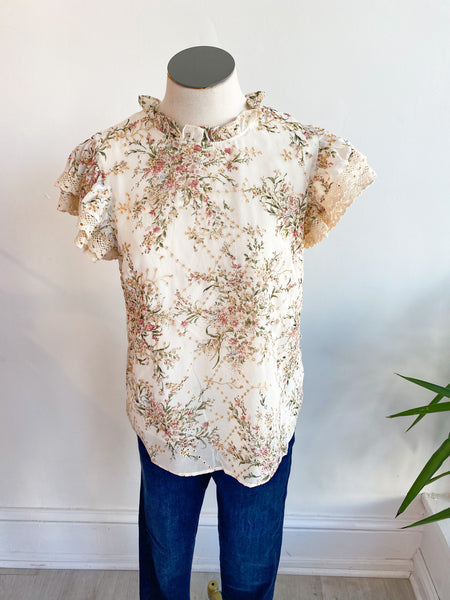 Again and Again Floral Embroidered Top