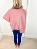 To Love Again Oversize Top - Deep Rose