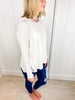 Hazel Dolman Sleeve Sweater - White
