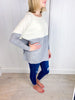 Take a Turn Colorblock Sweater - Ivory/Heather