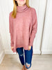 Last to Love Cowl Neck Sweater - Deep Rose
