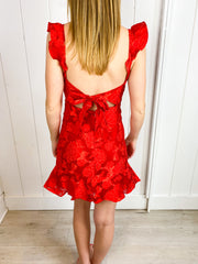 Red Lips Roses Dress