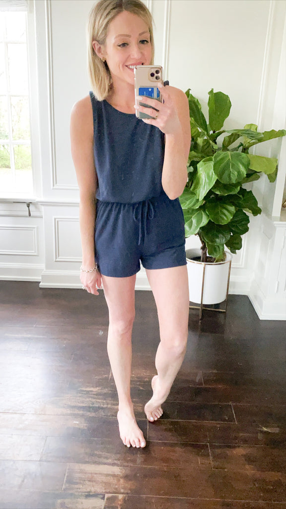 All Day Everyday Romper - Navy