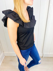 Janice Ruffle Sleeve Top