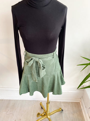 Sporty Me Tie Skort - Dusty Green