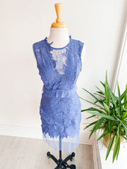 Grey Clouds Lace Dress