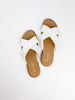 Atlantis Cross Strap Sandals - White