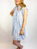 Flowing Water Button Dress
