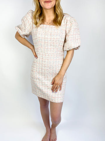 Time for Tea Tweed Dress