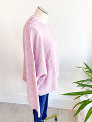 Pretty as a Plum Drop Shoulder Sweater