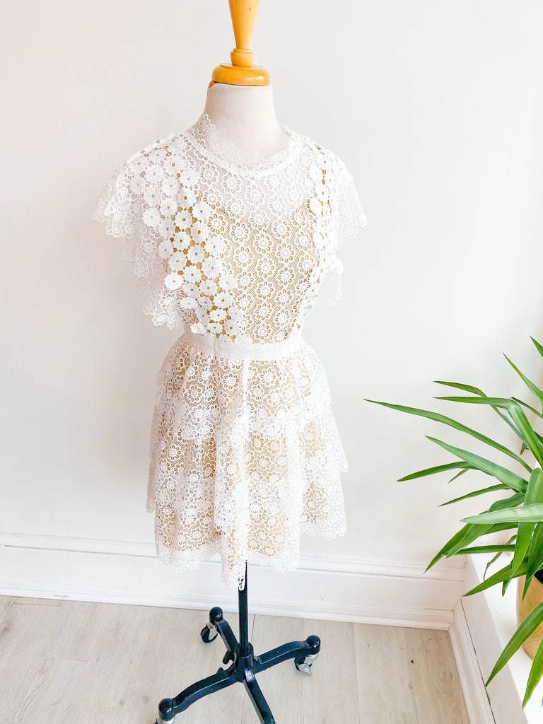 Wedding Day Tiered Lace Dress