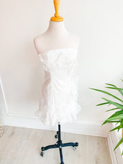 Wedding Day Ruffled Tube Dress