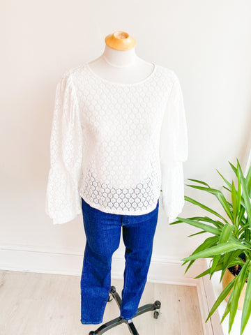 Cloud Dreaming Eyelet Top