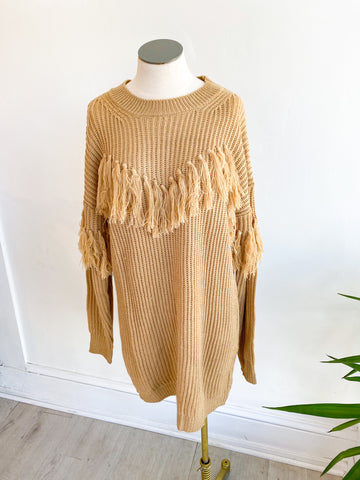 Casanova Fringe Sweater Dress