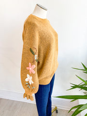 Motown Floral Sleeve Sweater