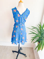 Lilly Pad Pond Floral Tie Dress
