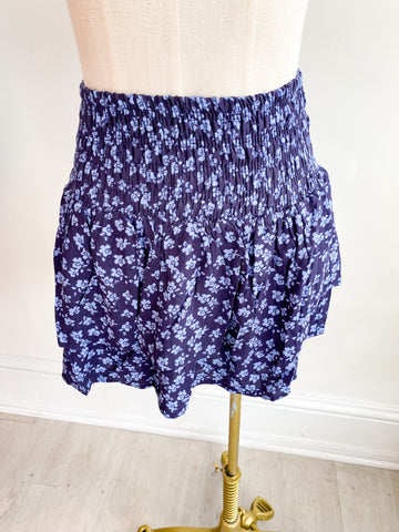 Eclipse Smocked Ruffle Skirt