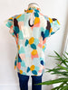 Watercolor World Colorful Top - Mint