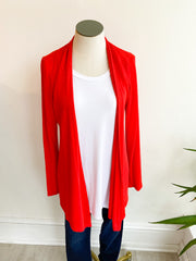 The Lightweight Natalie Cardigan - Red