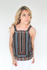 Heavy Weather Aztec Print Tank - Black
