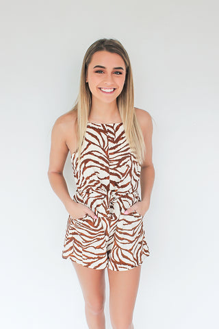 All the Seas Tied Romper