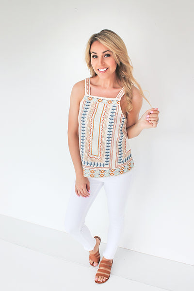 Heavy Weather Aztec Print Tank - Natural