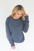 Down in the Sand Cotton Pullover - Anchor Slate