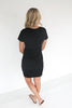 Riley Side Ruched Dress - Black