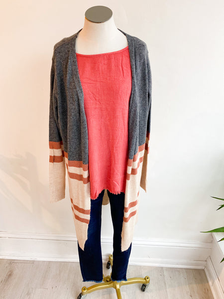 Gabby Open Cardigan - Rust
