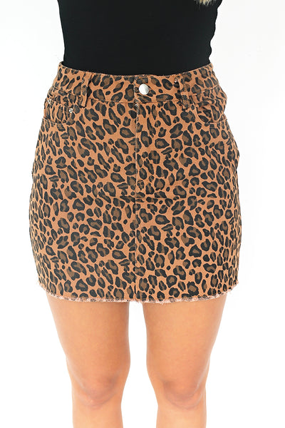 Wild Side Leopard Print Skirt