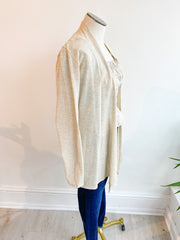 The Lightweight Natalie Cardigan - Oatmeal