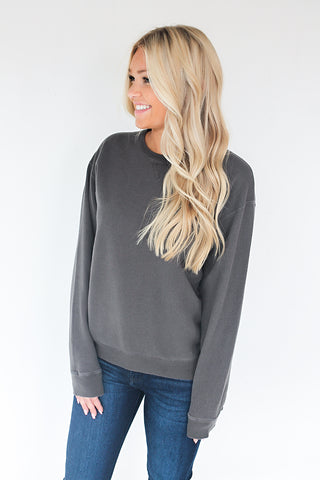 Down in the Sand Cotton Pullover - Railroad Grey