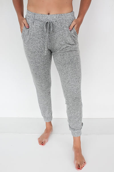 Every Day and Night Joggers - Heather Grey