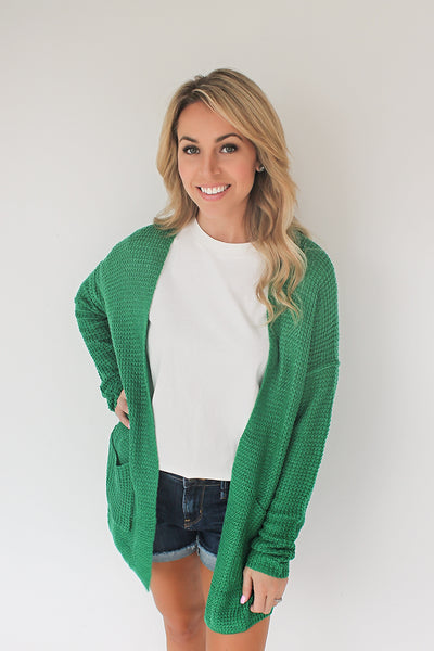 Quincy Open Knit Cardigan