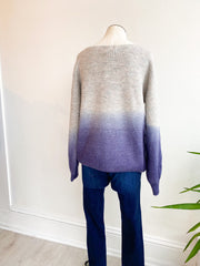 Deep Dyed Ombre Pullover Sweater