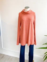 Sally Stripe Knit Sweater - Indian Red