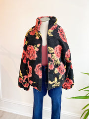 Let There Be Love Floral Teddy Jacket