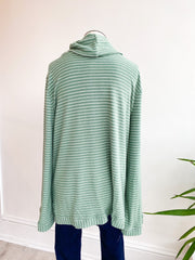 Sally Stripe Knit Sweatshirt - Green