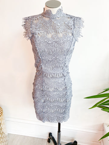 Cloudy Skies Lace Dress