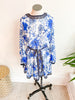 Chinoiserie Blue Floral Dress