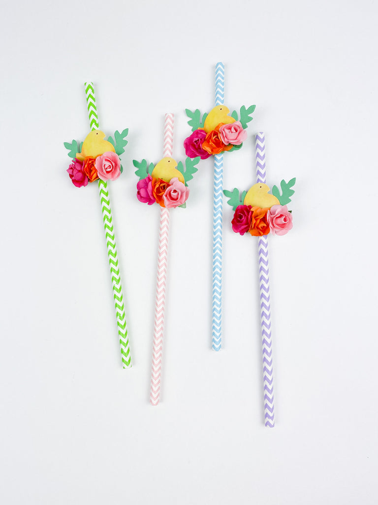 Peeps Paper Party Straws