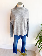 Hallie Turtleneck Sweater - Grey
