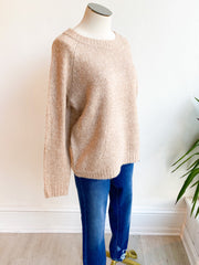 Have Faith Longsleeve Knit Sweater - Taupe