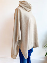 Last to Love Cowl Neck Sweater - Oatmeal