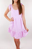 San Pedro Ruffle Tie Dress