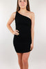 Come with Me Bodycon Tank Dress - Black