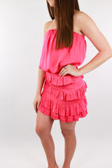Paradise Calling Strapless Tiered Dress