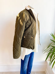 Check the Weather Quilted Bomber Jacket - Olive