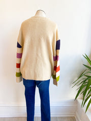 On Another Level Colorblock Sleeve Sweater